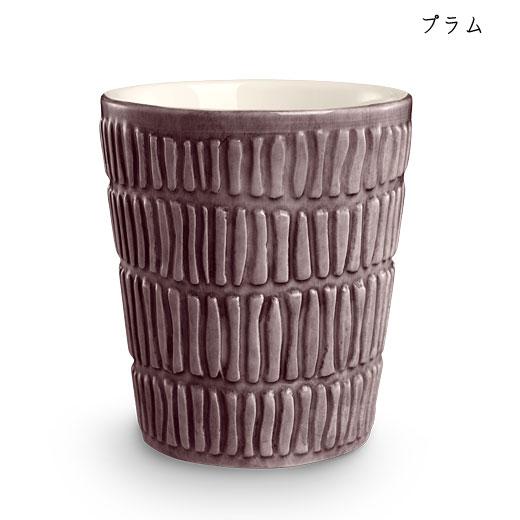ストライプス ミディアムカップH10cmプラム