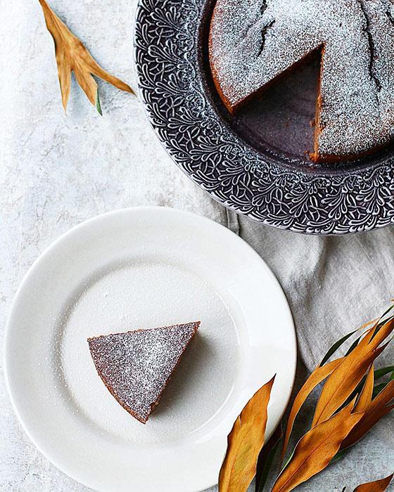 ホールケーキ皿と取り皿